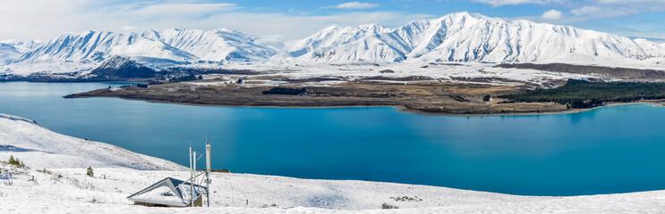 Panoramic view of  Lake Tekapo, New Zealand