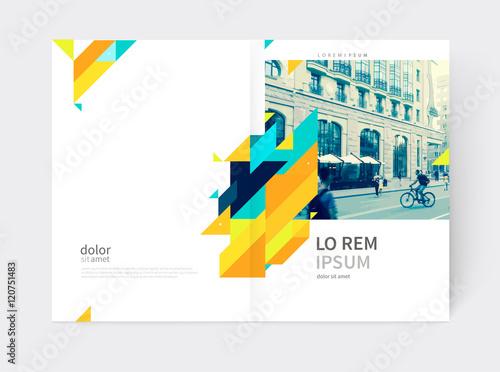 Minimalistic Brochure design Annual report cover template a4