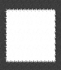 Abstract white background with a frame for album