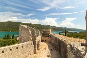 Fortress and walls in Ston, Peljesac, Croatia