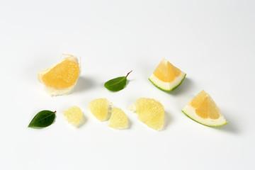 green grapefruit pieces