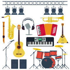 Vector Musical Instruments Isolated