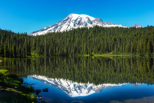 The Beautful Reflection of Mt Rainier