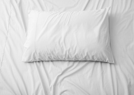 Pillow on the bed, background