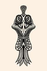 Zentangle stylized Cock