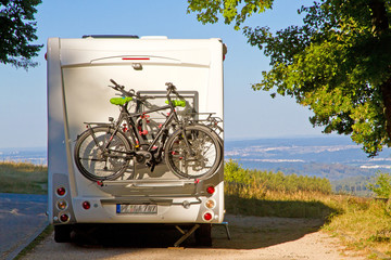 Mit dem Wohnmobil unterwegs - schwäbische Alb