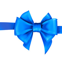 bow ribbon gift vector