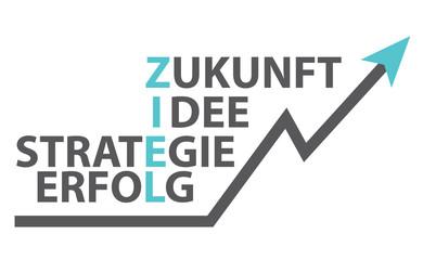 Ziel - Zukunft - Idee - Strategie - Erfolg