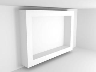 White Geometric Architecture Design Background