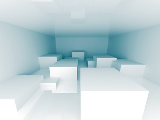 Abstract Blue Architecture Design Background