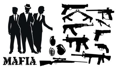 mafia gun package silhouettes