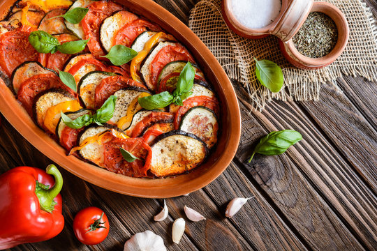 Traditional French Ratatouille with herbs