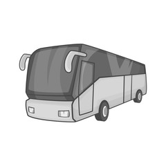 Tourist bus icon in black monochrome style on a white background vector illustration