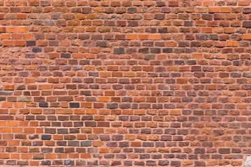 In de dag Baksteen muur Background of old brick wall pattern texture.