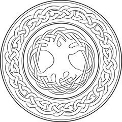 Tree of life in celtic style