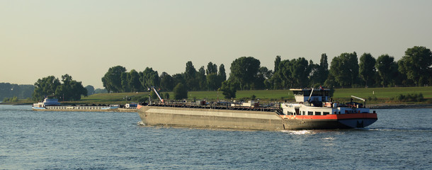 barge on the river