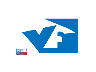 VF Initial Logo for your startup venture