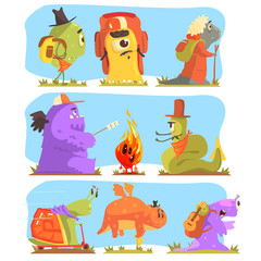 Monsters Hiking And Camping