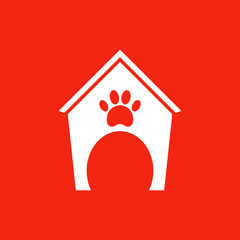 Booths for dogs icon.