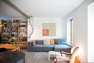 Living room in modern house