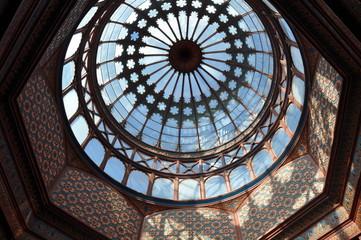 Interior dome of the Kiosco Morisco de Santa Maria la Ribera, Mexico City