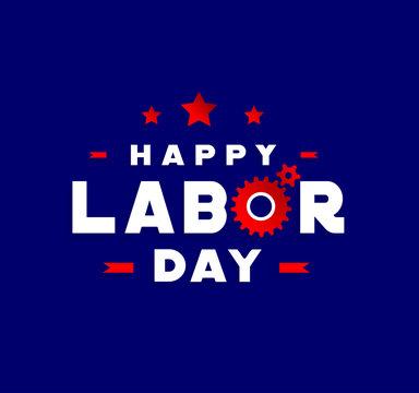 Happy Labor Day vector design elements icon label badge