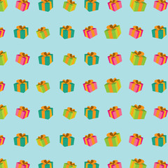 seamless pattern with gift boxes .