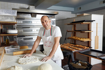 Portrait of baker in bakery