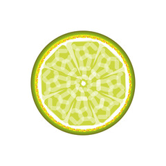 Lime abstract sign pattern