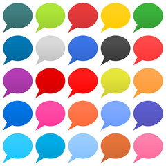 Flat speech bubble sign web icon circle shape