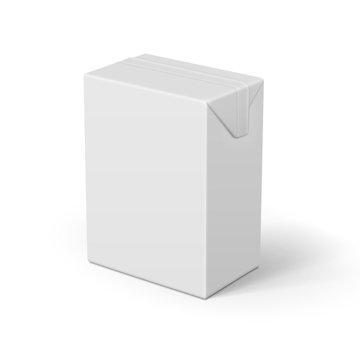 White cardboard juice package.
