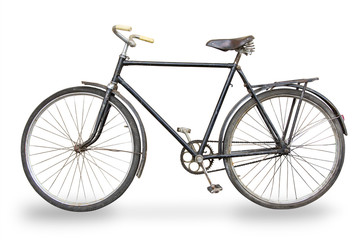 old bike isolated
