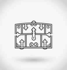 Chest Icon on white background.