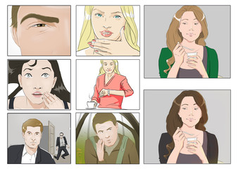 Portraits for storyboards
