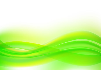 abstract wave background green