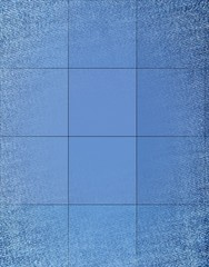 Abstract blue geometric square background.  illustration
