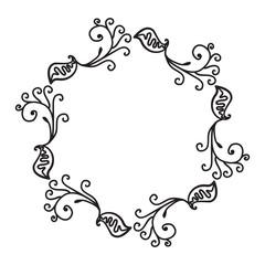 Hand Drawn Ornamental Circle Frame