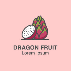 Dragon fruit vector icon made in flat style