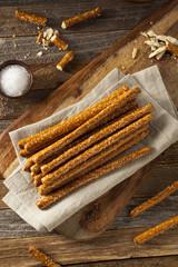Crunchy Salty Pretzel Rods