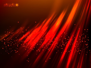 Red aurora polar light vector abstract background