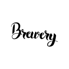Brewery Lettering