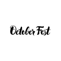 October Fest Lettering
