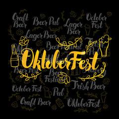 Oktoberfest Gold Lettering