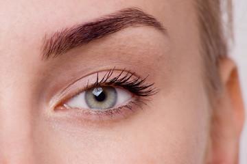 Macro image of woman's eye.