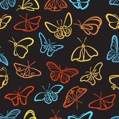 Seamless butterfly pattern.