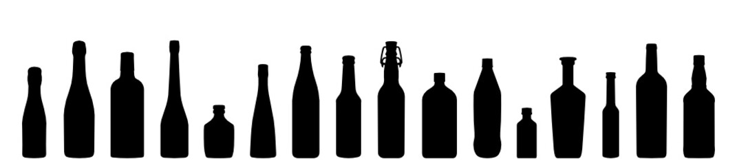 Obraz Flaschen Icons - fototapety do salonu
