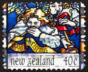 Postage stamp New Zealand 1996 Angel's Announcement to Shepherd