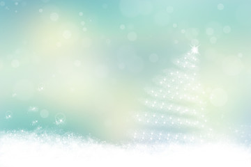 Sweet blue pastel christmas background.