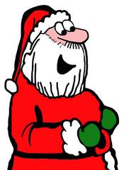 Color, closeup illustration of Santa Claus.