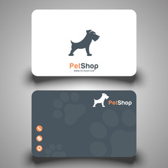Business card. Pet shop. Vector